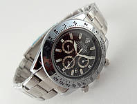 Мужские часы Rolex Daytona черный цвет циферблата, в серебре
