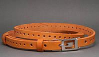 Женский ремень поясок кожаный Перформер, Svetlana Zubko ДхШ: 125х1,5 см. рыжий 3F15407