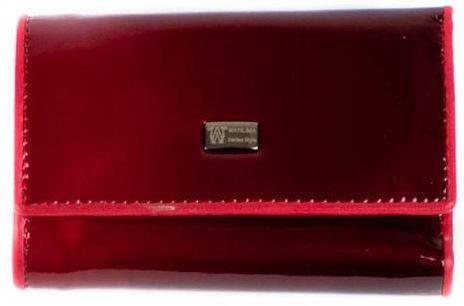 Оригинальная кожаная ключница-кошелек  WANLIMA (ВАНЛИМА) W72092580792-red красный
