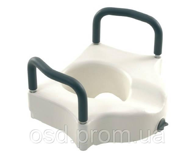 Оборудование для инвалидов. Высокое туалетное сидение с фиксатором и съемными поручнями  OSD-RPM-67034