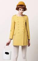 Красивое яркое молодёжное женское пальто для стильной модницы.