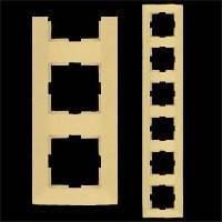 VIKO Рамка шестерная горизонтальная Meridian, кремовый (90979036)