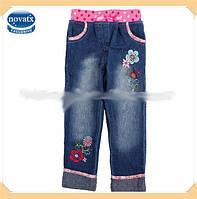 Детские качественные джинсы на девочку с вышивкой