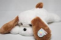 Мягкая игрушка - плюшевая собачка Тузик белая и персиковая от 53 -140см