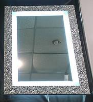 Зеркало 1005*750 мм в деревянном багете(Италия) c Led подсветкой,индивидуальный размер