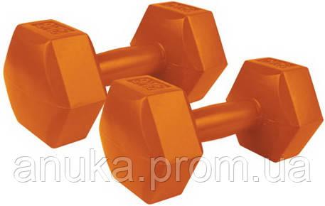 Виниловые гантели шестигранные Spokey Monster, 2 x 2 кг (84312)