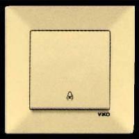 VIKO Выключатель кнопочный Meridian, кремовый (90970203)