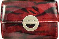 Женский очаровательный  кошелек из кожи WANLIMA (ВАНЛИМА) W11044790663-dark-red