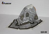 Шерстяной красивый платок Медальон