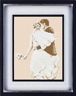 Набор для рисования камнями LASKO холст Свадьба (ТL012) 21 х 27,5 см