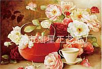 """Картина своими руками """"Чайник с цветами"""""""