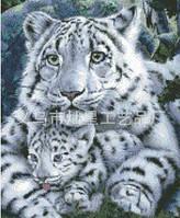"""Набор алмазной вышивки """"Белый тигр с малышом"""""""