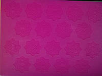 Коврик кондитерский силиконовый для айсинга Ажурные цветы