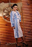 Женское платье с вышивкой синие узорі.. Жіноче плаття вишиванка. Жіноче плаття Модель:ЖП 1-126