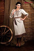 Женское платье с вышивкой. Жіноче плаття вишиванка.    Жіноче плаття Модель:ЖП 6-141 льон