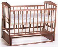 """Кроватка для новорожденных """"Наталка"""" с маятником, ясень светлый, тёмный"""