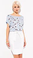 Летняя женская юбка-карандаш из вискозной ткани молочного цвета. Модель Sienna Zaps коллекция весна-лето 2015