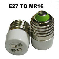 Переходник (адаптер, конвертер, разъем) для патрона с Е27 на MR16, фото 1