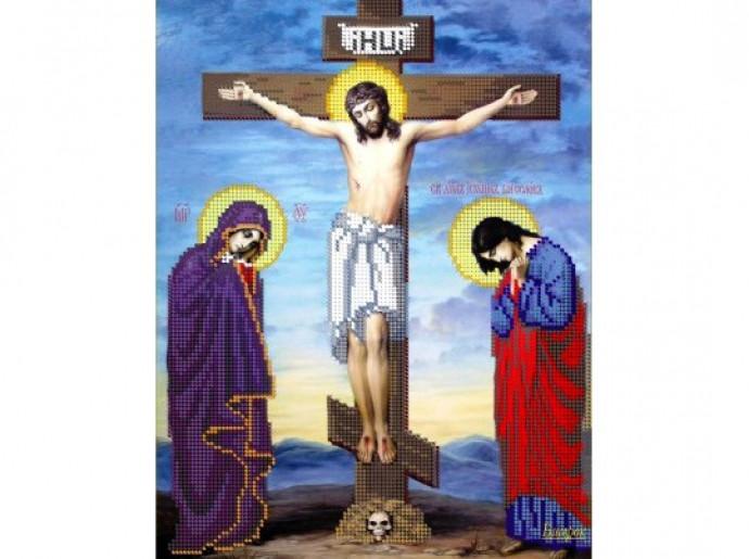 Вышивка крестом схема распятие христа 96