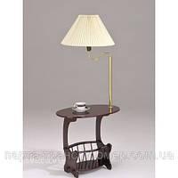 Журнальный столик с лампой и газетницей