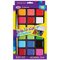 Краски акварель VGR W3318, 18 цветов
