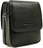 Мужская кожаная сумка небольших размеров на плечо Тоfionno 03099-5 черная