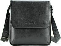 Небольшая кожаная мужская сумка на плечо Тоfionno 0330051 черная