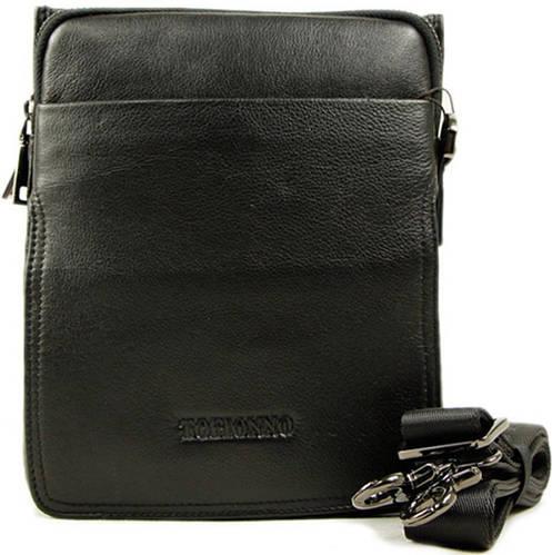 Мужская сумка на плечо из кожи Тоfionno 0407-5 черная