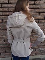 Куртка женская с трикотажным рукавом