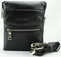 Повседневная наплечная сумка для мужчин из кожи Тоfionno 049645-3 черная