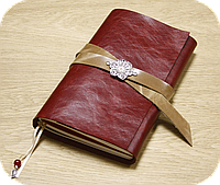 Блокнот кожаный Гранат