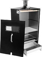 Коптильня для дачи biowin, горячее/холодное копчение, термометр, поддон для жира, двойные стенки, 80*39*28 см