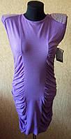 Молодежное женское сиреневое платье не дорогое