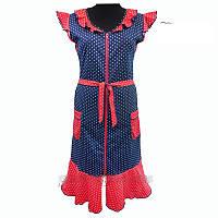 Женский трикотажный халат в модный горох с 48 по 62 размер