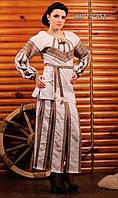 Женский костюм с вышивкой и юбкой с разрезами..    Жіночий костюм Модель:ЖК 17-151-148