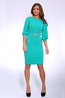 Красивое женское платье с карманами,украшенное камушками