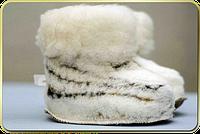 Тапочки-чуни из овечьей шерсти