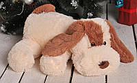 Мягкая игрушка - плюшевая собачка Шарик белая и персиковая от 50 -110см