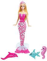 Кукла барби русалка с питомцами