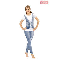 Женская пижама, костюм для дома и отдыха футболка и леггинсы/лосины Ozlem 5028