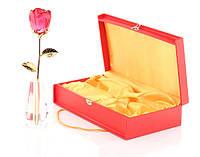 Crystle Rose: Роза высокая из стекла Сваровски (Голубая)