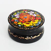 Украинский сувенир. Шкатулка расписная. Мальвы в букете