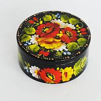 Украинский сувенир. Шкатулка для украшений. Маки в букете