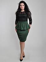 Платье С Ассиметричной баской(батал)
