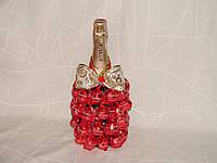 """Шампанское с конфетами для любимых""""Белиссимо""""красное"""