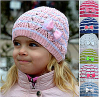 Детская шапка Веер, шапка для девочки 2-4 лет. р.48-52.