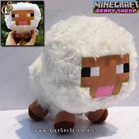 "Плюшевая овечка из игры Майнкрафт - ""Minecraft Sheep"" - 16 х 12 см."