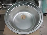 Мойка кухонная врезная из нержавеющей стали 510 мм (толщина 0,8 мм) Запорожсталь.