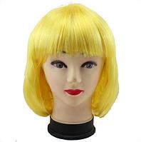 Новинка! Женский элегантный модный парик для вечеринок, стрижка каре боб, прямые волосы с челкой, цвет желтый