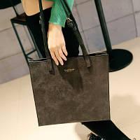 Сумка-планшет большая черного цвета